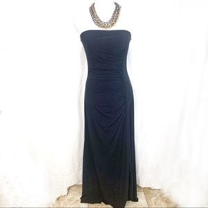 Max & Cleo Black Strapless Formal Maxi Dress. 6